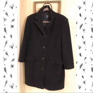 Women's Gap Black Overcoat M